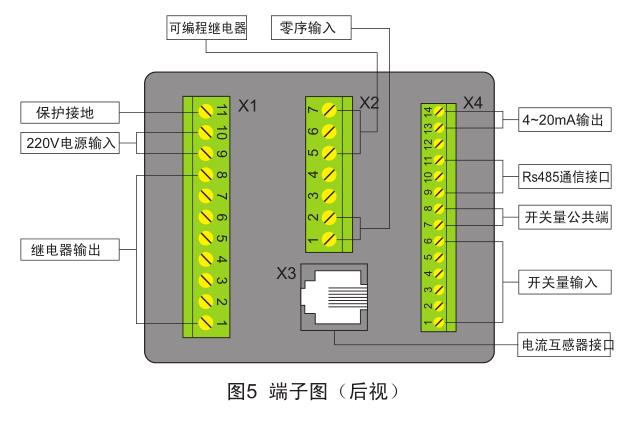 SJD-207电机保护监控装置端子图