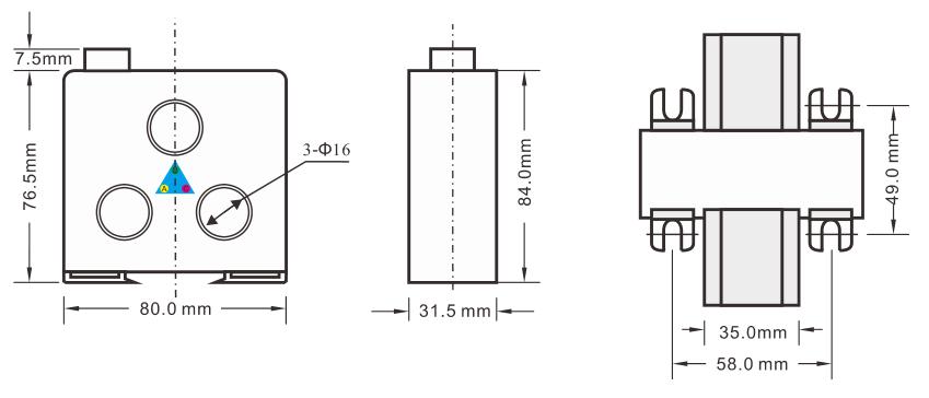 SJD300系列电动机开心电玩chengwai形尺寸