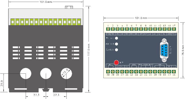 SJD550系列电动机保护控制器外形尺寸
