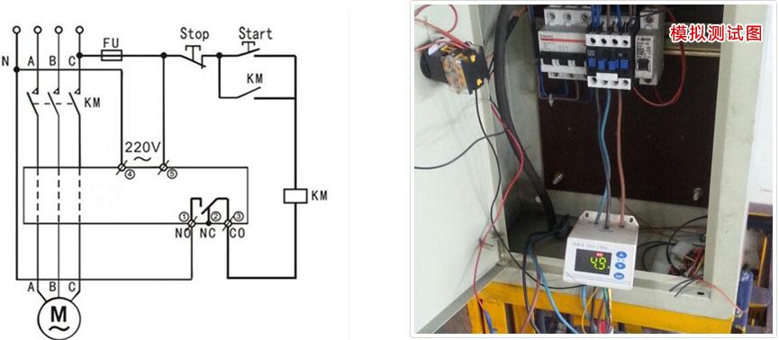 电动机保护器连接图