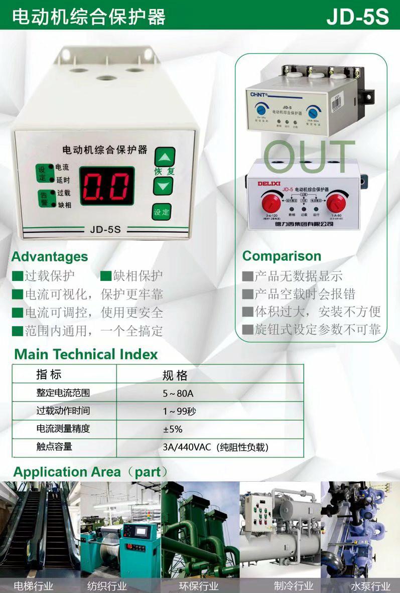 電動機綜合保護器功能參數