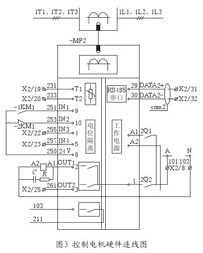 控制电机硬件连线图