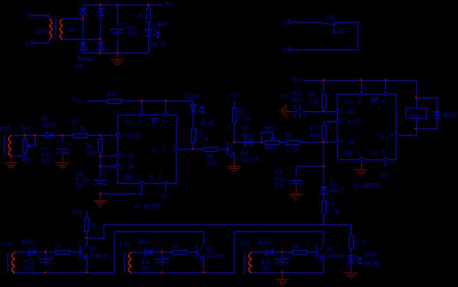 电动机断相过载保护器整机电路