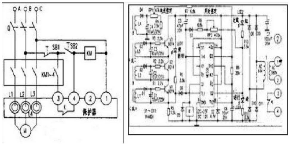 电动机保护器工作原理图分析