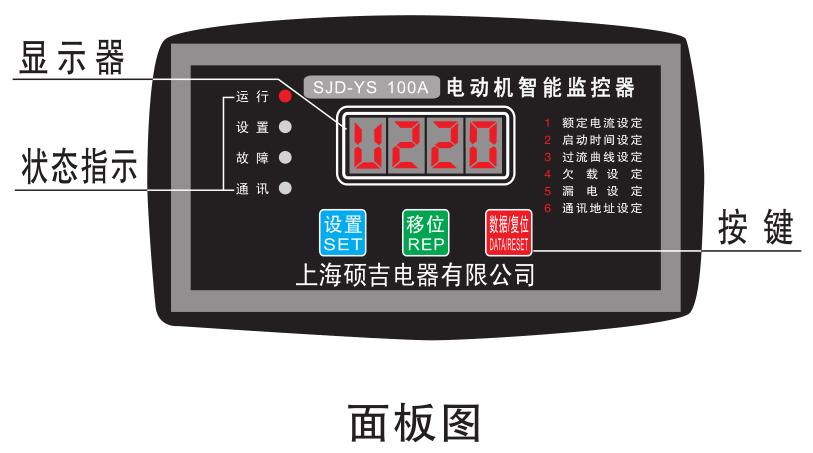 电机保护器面板图